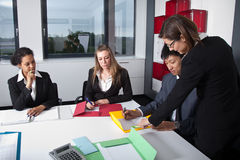 Young business team in a meeting Royalty Free Stock Photo