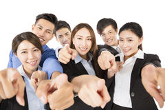 Young  Business team with pointing to camera gesture Stock Images