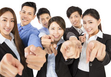 Young  Business team with pointing to camera gesture Royalty Free Stock Photography