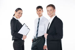 Young business team standing together. Stock Photo