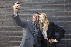 Young business team taking a selfie Royalty Free Stock Photos
