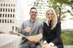 Young business team with woman in charge Royalty Free Stock Images