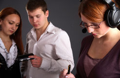 Young business team at work Stock Image