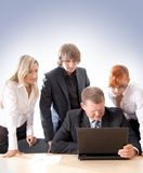 A young business team at work Stock Photography