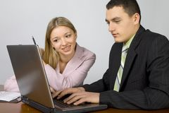 Young business team at work royalty free stock images