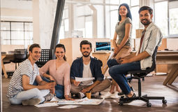 Young business team working royalty free stock images