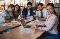 Young business team working stock images