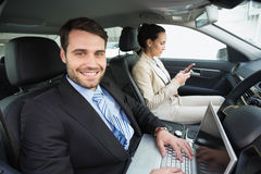 Young business team working together Stock Images