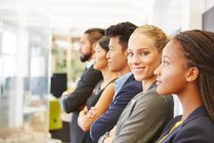 Young business team. Working together in cooperation stock images