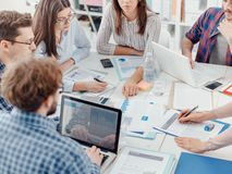 Young business team royalty free stock images