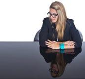 Young Business Teenage Blonde Girl Stock Photos