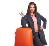 Young  business traveller portrait Stock Images