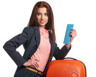 Young  business traveller portrait Stock Photography