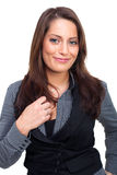 Young business woman. A young business woman in dress Stock Images