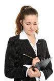 The young business woman Stock Photo
