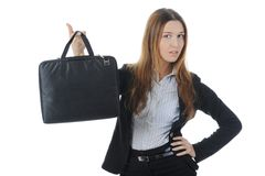 Young business woman Stock Images