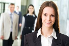 Young business woman Stock Photos