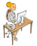 Young business woman. Stock Photography