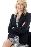 Young Business Woman Arms Folded Stock Photography