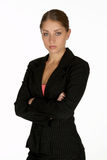 Young Business Woman with Arms Folded Looking at Camera Royalty Free Stock Photo