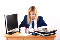 Young Business Woman Behind Desk Royalty Free Stock Photo