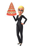 Young Business Woman with cake Stock Image