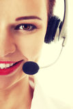 Young business woman at call center. Stock Photography