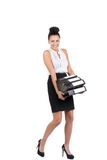 Young business woman carries several files Stock Photography