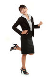 Young business woman celebrating success Royalty Free Stock Photos