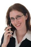 Young Business Woman With Cell Phone 1 Stock Image