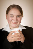 Young business woman with coffee Stock Photography