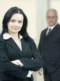 Young business woman with colleague Stock Photos