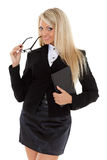 Business woman with computer tablet. Royalty Free Stock Photo