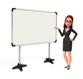 Young Business Woman with display board Royalty Free Stock Photography
