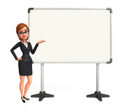 Young Business Woman with display board Royalty Free Stock Images