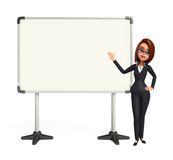 Young Business Woman with display board Royalty Free Stock Photos