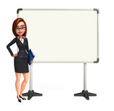 Young Business Woman with display board Stock Images