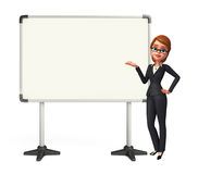 Young Business Woman with display board Stock Photos