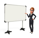 Young Business Woman with display board Stock Photography