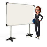 Young Business Woman with display board Royalty Free Stock Photo