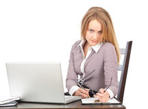 Young business woman executive Stock Image