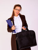 Young business woman with a eyeglasses Stock Images