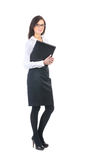 A young business woman in formal clothes Royalty Free Stock Image