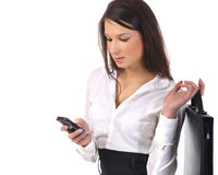 A young business woman in formal clothes Royalty Free Stock Photography