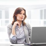 Young business woman in formal clothes Royalty Free Stock Image