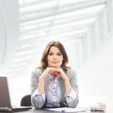 Young business woman in formal clothes Stock Photo
