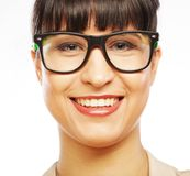 Young business woman with glasses Royalty Free Stock Images