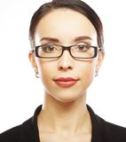 Young business woman with glasses Royalty Free Stock Photography
