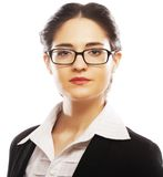 Young business woman with glasses Royalty Free Stock Photos