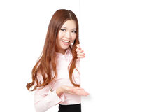 Young Business Woman Happy Smile Stock Photography